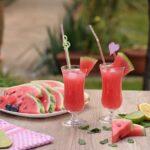 Suco fit de melancia com hortelã